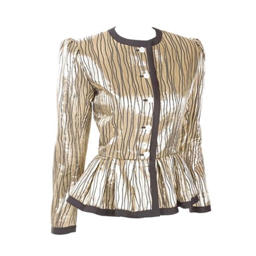 Yves Saint Laurent 1980s fit & flare gold vintage Jacket