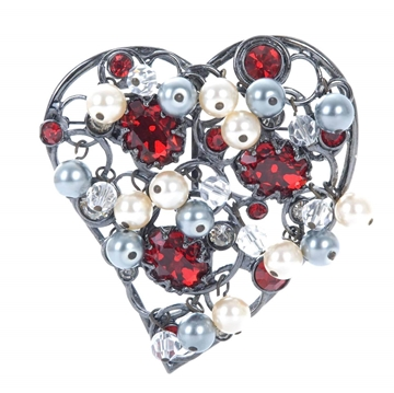 YVES SAINT LAURENT Heart shaped vintage Brooch