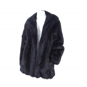 Lebrecht 1980s Sable Fur black vintage Jacket