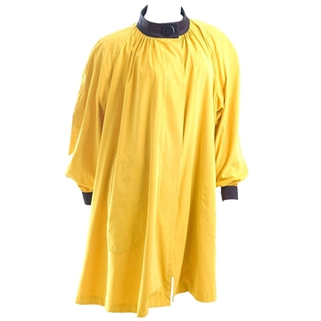 Yves Saint Laurent Rive Gauche 1970s Yellow vintage Summer Swing Coat
