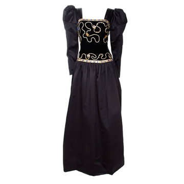 Givenchy 1980s Nouvelle Boutique embellished black vintage dress
