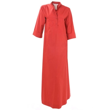 Yves Saint Laurent 1971 Moroccan Inspired Cotton red vintage Maxi Dress