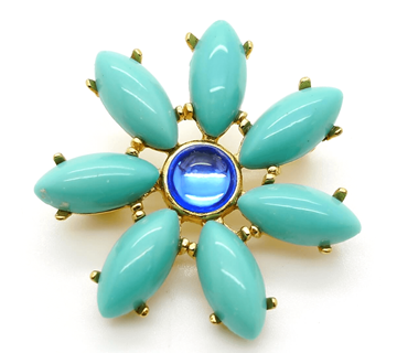 Picture of Yves Saint Laurent Vintage Turquoise Brooch