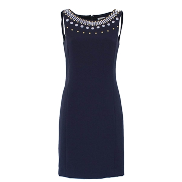 Michael Kors collar detail blue vintage dress