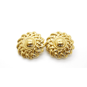 GIVENCHY 1970s circular gold tone vintage EARRINGS