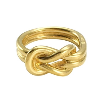 Hermes Gold Tone Knotted VINTAGE Scarf Ring