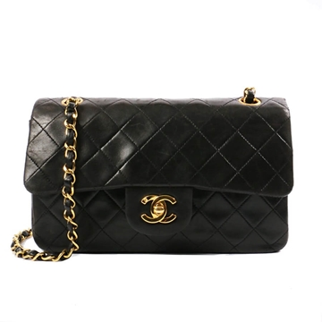 Chanel Classic Flap 23cm Black vintage shoulder bag