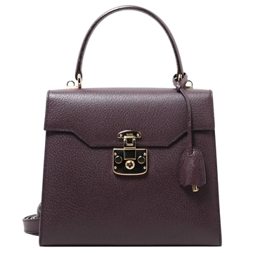 Gucci Pig Skin  2way Purple top handle bag