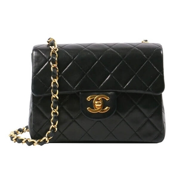 Chanel Lamb Skin Mini black vintage shoulder bag