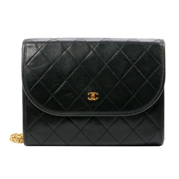 Chanel COCO Mark leather black vintage Shoulder Bag
