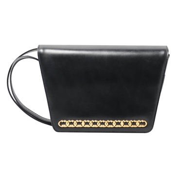 Gucci GG Line Plate black vintage Shoulder Bag