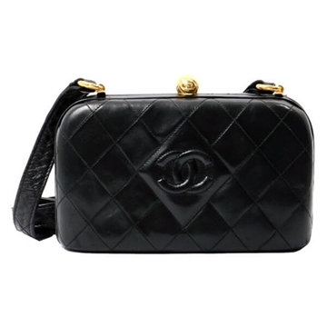 Chanel CC Mark Coin Opening black vintage Shoulder Bag