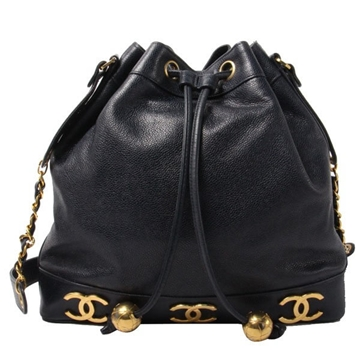Chanel Caviar 6 CCMark Drawstring vintage shoulder Bag with pouch