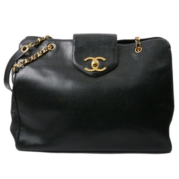 Chanel Caviar Matelasse Double Face black vintage shoulder