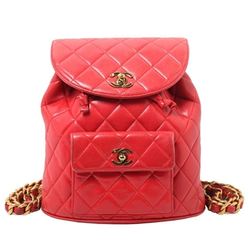Chanel Matelasse red leather Rucksacks