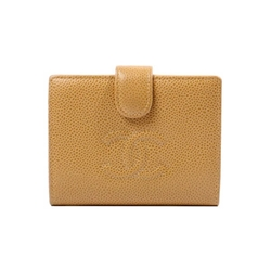 Chanel Caviar CC Mark beige leather vintage Wallet