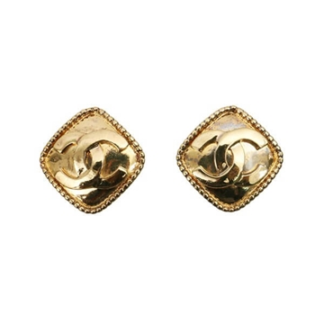 Chanel CC Mark gold tone vintage Earring