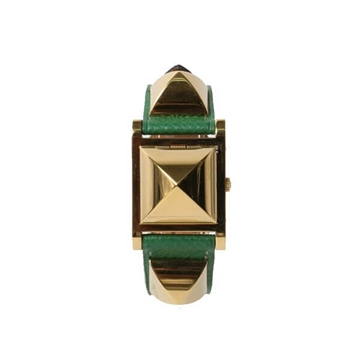 Hermes MEDAL Watch Vert Bengale vintage ladies watch