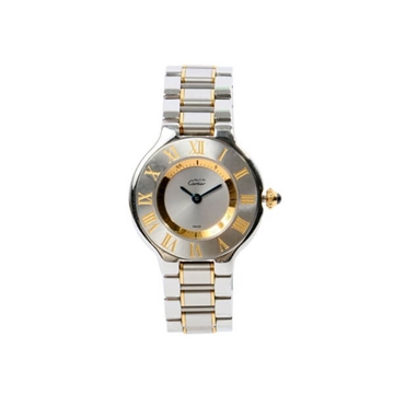 Cartier MUST21 stainless steel ladies watch