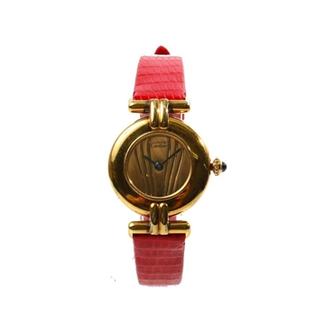 Cartier Must Colisee Red & Gold vintage ladies watch
