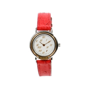 Hermes Meteor Rouge Garance red vintage watch