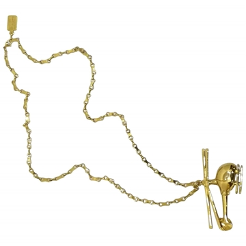 LOUIS VUITTON Helicopter gold vintage Necklace