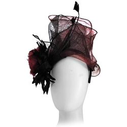 Kreisi Couture Bordeaux Black vintage Hat