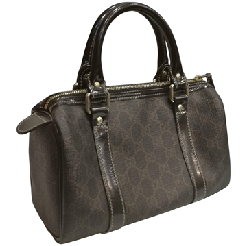 Gucci Monogram Brown vintage Boston bag