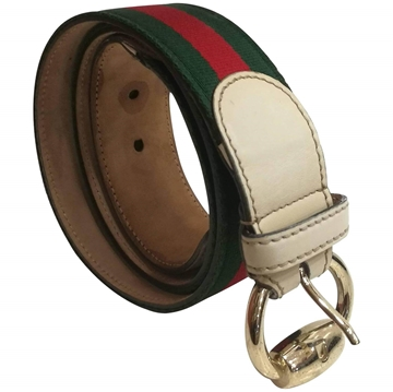 Gucci green and red vintage Belt