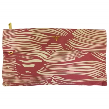 Prada White & Pink vintage Clutch bag