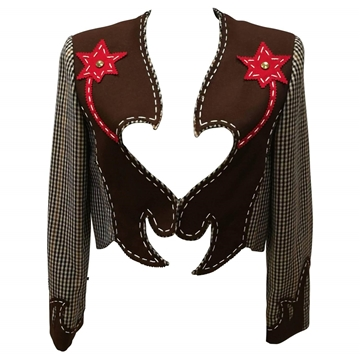 Moschino Cheap & Chic 1980s Cowgirl Brown Vintage Jacket