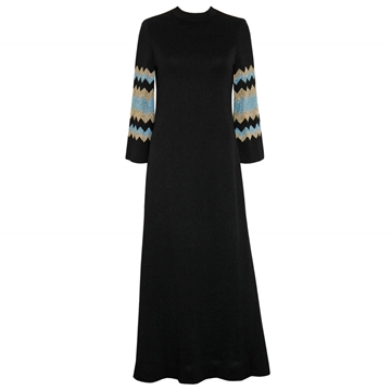 PIERRE BALMAIN 1960s angel sleeve blue vintage Maxi dress
