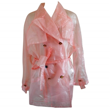 Versace Jeans See through pink vintage raincoat