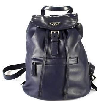 Prada Navy Leather vintage Backpack