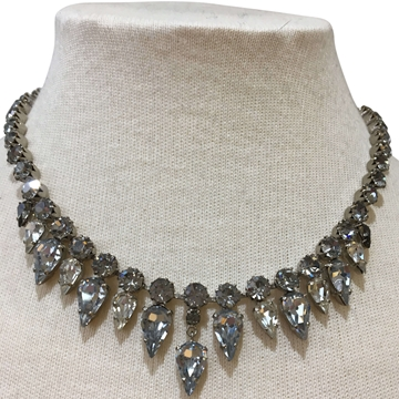 Vintage 1960s grey paste necklace