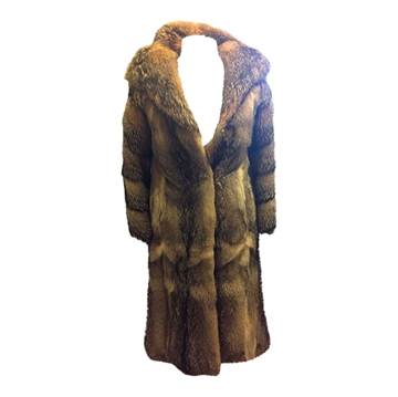 Wolf fur 1960s vintage ladies coat