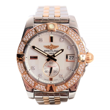 "Breitling Galactic 36 ""Brilliant"" steel & gold ladies watch"