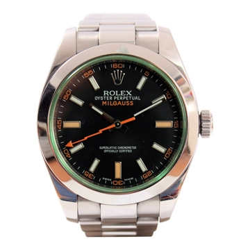Rolex Milgauss 116400GV stainless steel mens watch