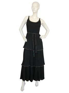 LOUIS FeRAUD 1970s black vintage Evening dress