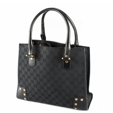Gucci Monogram Canvas black vintage Tote bag