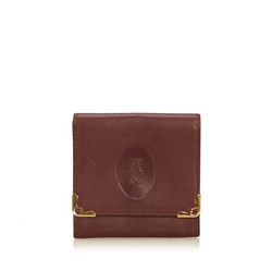 Cartier Leather Must de Cartier red vintage Coin Pouch