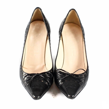 Chanel Pointed bow detail black vintage shoes