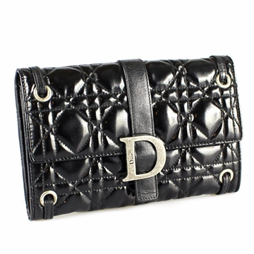 christian-dior-black-patent-leather-quilted-wallet