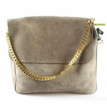 Celine Suede Braided Chain grey vintage bag