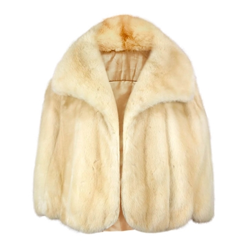 Vintage 1960s champagne coloured mink fur cape