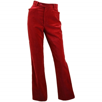 Tom Ford for Gucci 1990s velvet red vintage Trousers