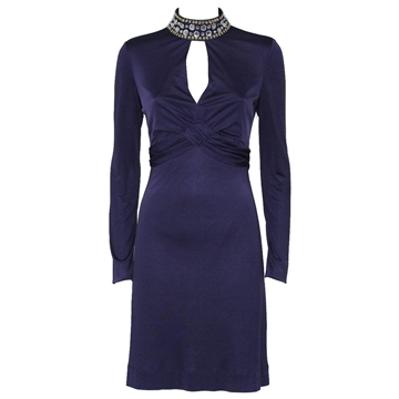 Valentino Red jewel collar purple vintage Cocktail dress