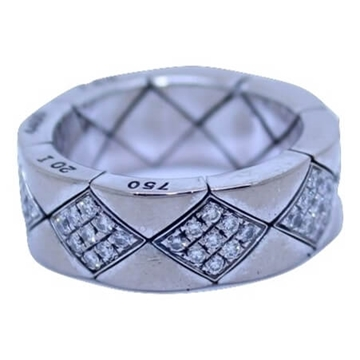 Chanel White Gold & Diamond vintage ring