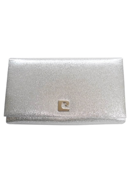 PIERRE CARDIN 1960s lurex silver vintage Evening Clutch bag