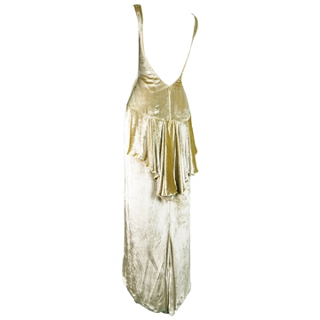 David Fielden 1990s Gold Velvet Vintage Evening dress